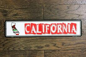 カリフォルニア州 CALIFORNIA ミニストリートサイン アメリカンブリキ看板 アメリカ ブリキ看板 アメリカン雑貨 アメリカ雑貨 サインプレート メタルプレート おしゃれ 店舗 カフェ バー ガレージ インテリア フラッグ柄 ブリキ ポスター 看板