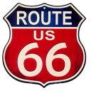 ルート66 まんま標識型 ブルー&レッド レトロ調 アメリカンブリキ看板 アメリカ ブリキ看板 アメリカン雑貨 アメリカ…