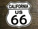 ルート66★カリフォルニア州・標識型・フラットタイプ★アメリカンブリキ看板★アメリカ ブリキ看板 アメリカン雑貨 アメリカ雑貨 サイ…