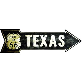 ルート66 テキサス州 レトロ調 アローカット 矢印型 アメリカンブリキ看板 アメリカン雑貨 アメリカ 雑貨 サインプレート サインボード ティンサイン メタルプレート イおしゃれ カフェ バー 店舗 ガレージ インテリア ブリキ ポスター 看板
