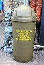 アメリカ陸軍仕様★ドーム型のゴミ箱・45リットル★ARMY・カーキ★アメリカ雑貨・アメリカン雑貨・ごみ箱★アメリカ雑貨 アメリカン雑…