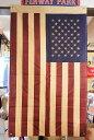星条旗★フラッグ(旗)・ブラウン★約135×80cm★レトロ調のコットン製★アメリカ 雑貨 国旗 アメリカン雑貨 アメリカ雑貨 おしゃれ …