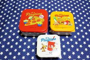 トイ・ストーリー ランチボックス3個セット お弁当箱 PLAYTIME柄 ディズニー 保存容器 雑貨 キャラクター トイストーリー おしゃれ ポップ かわいい お弁当