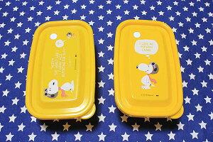 スヌーピー&ウッドストック フードコンテナ 2個セット フライングエース柄 保存容器 ランチシリーズ PEANUTS SNOOPY お弁当箱 雑貨 キャラクター スヌーピーグッズ おしゃれ ポップ かわいい