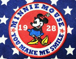 ミニーマウス ワッペン ラウンド アイロン接着タイプ ディズニー ミニー ミニーちゃん アメリカ 雑貨 アメリカン雑貨 キャラクター ディズニー グッズ