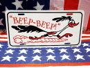 ロードランナー★BEEPBEEP★ライセンスプレート(フラットタイプ)★アメリカ直輸入品★【あす楽対応_関東】【あす楽対応_近畿】
