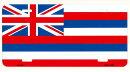 ハワイ州旗モチーフフラットタイプライセンスプレートアメリカン雑貨アメリカ雑貨サインプレートサインボードティンサインメタルプレートおしゃれカフェバー店舗ガレージインテリアブリキ看板