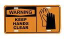 手をキレイに!! KEEP HANDS CLEAR ライセンスプレート 完全売り切り品 アメリカン雑貨 アメリカ 雑貨 サインプレート サインボード …