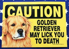 ゴールデンレトリバー 雑貨 プラスチックプレート GOLDEN RETRIEVER MAY LICK YOU TO DEATH ゴールデン グッズ アメリカ製 アメリカ直輸入品 ペット 犬 雑貨