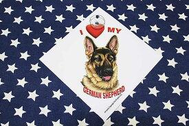 ジャーマンシェパード 雑貨 吸盤付きプレート I LOVE MY GERMAN SHEPHERD プラスチックプレート シェパード グッズ 犬 DOG IN CAR 車 アメリカ直輸入品 ペット 雑貨