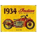 インディアンモーターサイクル 1934 402シリーズ レトロ調 アメリカンブリキ看板 アメリカ ブリキ看板 アメリカン雑貨 アメリカ雑貨 メ…
