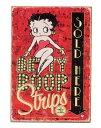 Betty Boop★ベティちゃん・Comic Stripe・当店Sサイズ★アメリカンブリキ看板★ベティ ブープ ベティー アメリカ ブリキ看板 アメリカ…
