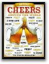 BEER★ビールで乾杯(CHEERS AROUND THE WORLD)★アメリカンブリキ看板★アメリカ ブリキ看板 アメリカン雑貨 アメリカ雑貨 サインプレー...