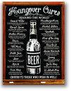 BEER★二日酔いを治す方法(Hangover Cures)・レトロシリーズ・ビール系★アメリカンブリキ看板★アメリカ ブリキ看板 アメリカン雑貨…