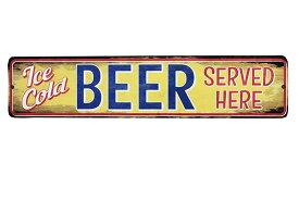 ビール Ice Cold BEER ミニストリートサイン アメリカンブリキ看板 アメリカ ブリキ看板 アメリカン雑貨 アメリカ雑貨 サインプレート サインボード メタルプレート 看板 バー パブ お酒 雑貨 おしゃれ カフェ バー 店舗 インテリア