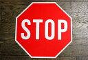 【送料無料】STOP★ストップ・約46×46センチ★アメリカの交通標識★トラフィックサイン★アメリカン雑貨 アメリカ 雑貨 サインプレー…