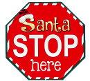 サンタさんうちに来て!!★クリスマス系・SantaSTOPhere・サンタクロース★アメリカンブリキ看板★アメリカン雑貨アメリカ雑貨サインプレートサインボードティンサインメタルプレートインテリアブリキ看板