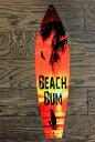 夕暮れの海岸 BEACH BUM ビーチバム サーフボード型 アメリカンブリキ看板 アメリカン雑貨 アメリカ ハワイ ハワイアン 雑貨 サインプ…