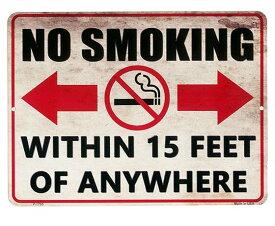 禁煙ゾーン NO SMOKING 当店Sサイズ アメリカンブリキ看板 アメリカ ブリキ看板 アメリカン雑貨 アメリカ雑貨 サインプレート メタルプレート 看板 おしゃれ カフェ バー 店舗 ガレージ インテリア