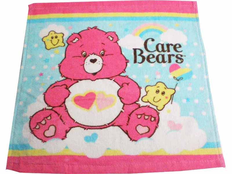 ケアベア ハンドタオル ラブアロット 綿100% Care Bears タオルハンカチ アメリカ 雑貨 アメリカン雑貨 ポップ かわいい おしゃれ キャラクター