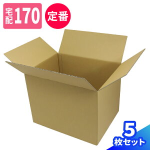 宅配170サイズ 定番 ゆうパック最大 深さ500mm 5枚 | ダンボール 170サイズ 段ボール 170 ダンボール箱 段ボール箱 梱包用 梱包資材 梱包材 梱包 ゆうパック 箱 宅配箱 宅配 引越し ボックス 大型