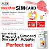 Prepaid SIM card docomo line 4G LTE/3G prepaid Data Sim card japan expiration date January 31, 2019 AJC docomo for exclusive use of 4GB 15 days data for Japan