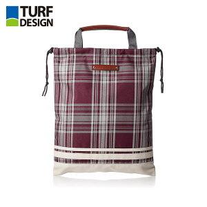 ゴルフ バッグ TURF DESIGN ターフデザイン シューズバッグ TDSB-1770 アクセサリー チェック柄 ワイン