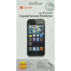 【土日もあす楽】【送料無料 】synaps iPhone5 液晶保護フィルム 3枚入り クリスタル スクリーン プロテクター【 セール 】【アウトレット】スマートフォン用液晶保護フィルム