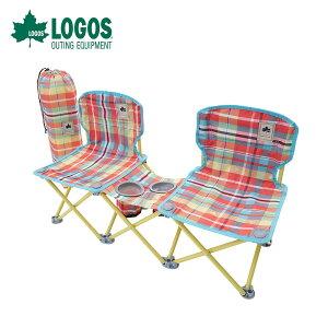 【土日もあす楽】 LOGOS ロゴス アウトドア レジャーシート 椅子 チェア ペアチェア プラス AI チェッカー 73173097 サイドテーブル コンパクトチェア ドリンクホルダー 背面ポケット 収束型 収