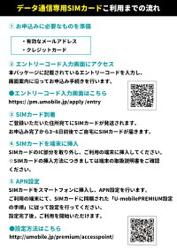 SIMカード(事務手数料)【Uモバイル】【送料無料】【simフリー】U-mobileプレミアム使い放題定額制かけ放題データ通信premiumSIMLTE4GDocomosimNTTドコモSIMカード後日発送無制限プランU-Sim高品質データ無制限【iPhone・Android対応】【格安スマホ】