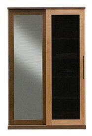 日本製  森のハーモニーシリーズ120スライドワードローブ テイクグラデーション ホルムアルデヒド規制対応標準仕様は、左ミラー・右スモークガラス開梱設置送料無料、北海道・沖縄・離島は除く要在庫確認