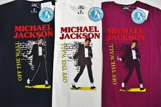HYSTERIC GLAMOUR hysteric grammar MICHAEL JACKSON/OFF THE WALL print T-shirt (02182CT01)