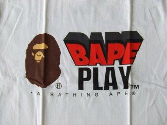 巴佩猿猿人发挥徽标 T 白色