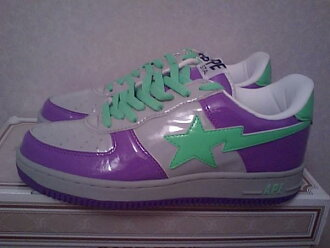 SALE price A BATHING APE sneakers ape APE BAPE STA enamel purple grey green D10