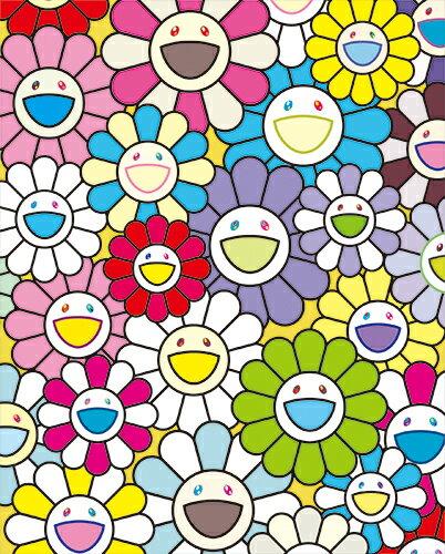 村上隆直筆サイン入り限定版画「小さなお花の絵:黄色や白や紫のお花たち」カイカイキキ kaikaikiki TAKASHI MURAKAMI FLOUR