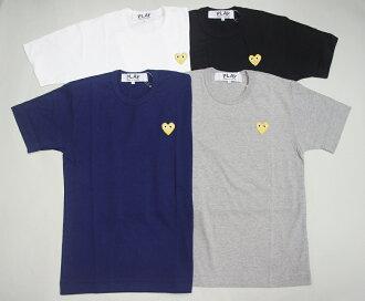 ☆ COMME des GARCONS ☆ PLAY 2015 신작 하트 골드 자 수 원 포인트 T-셔츠