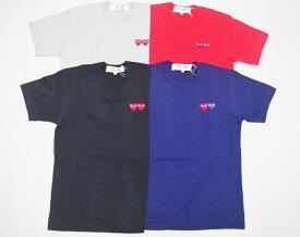 COMME des GARCONS コムデギャルソン ダブルハートワンポイント刺繍Tシャツ