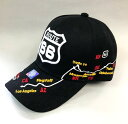 MOTHER ROADROUTE 66 CAP NEW Design #10 Black/Carルート66 キャップ ニューデザイン#10 ブラック/カー