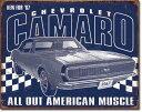 2135Camaro - 1967 Muscleシェビー シボレー カマロ マッスルアメリカン雑貨 ブリキ看板Tin Sign ティンサイン3枚以上で送料無料!
