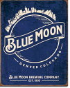 2140Blue Moon - Skyline Logo Retroブルームーン ビア ビールアメリカン雑貨 ブリキ看板Tin Sign ティンサイン3枚以上で送料無料!