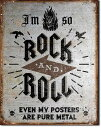 2171Rock n Roll Postersロックンロール ポスターアメリカン雑貨 ブリキ看板Tin Sign ティンサイン3枚以上で送料無料!
