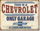 2200Chevy Only Garage Chevroletシェビー オンリー ガレージ シボレーアメリカン雑貨 ブリキ看板Tin Sign ティンサイン3枚以上で…