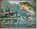 2235Fisherman's Catchブラック バスアメリカン雑貨 ブリキ看板Tin Sign ティンサイン3枚以上で送料無料!