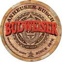 2165Budweiser Barrel Endバドワイザー ロゴアメリカン雑貨 ブリキ看板Tin Sign ティンサイン3枚以上で送料無料!