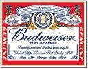 0979Budweiser Can Labelバドワイザー ビア ビール 缶 ラベルアメリカン雑貨 ブリキ看板Tin Sign ティンサイン3枚以上で送料無料!
