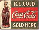 1299COKE c.1916 Ice Coldコカコーラ コーク ヴィンテージアメリカン雑貨 ブリキ看板Tin Sign ティンサイン3枚以上で送料無料!