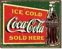 1393COKE Ice Cold Greenコカコーラ コーク ヴィンテージ ボトルアメリカン雑貨 ブリキ看板Tin Sign ティンサイン3枚以上で送料無…