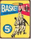1405Topps Basketball 1957トップス バスケットボールアメリカン雑貨 ブリキ看板Tin Sign ティンサイン3枚以上で送料無料!