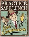 1489Schonberg Safe Lunchホットドッグ マスタードアメリカン雑貨 ブリキ看板Tin Sign ティンサイン3枚以上で送料無料!