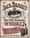 1665Jack Daniel's Sippin Whiskeyジャックダニエル テネシーウイスキーアメリカン雑貨 ブリキ看板Tin Sign ティンサイン3枚以上で…